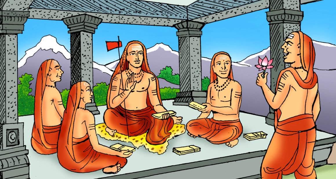 Totaka and Shankaracharya