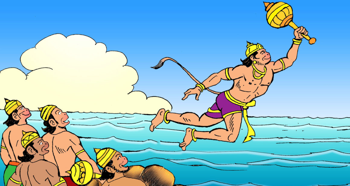 Hanuman takes the leap to Lanka