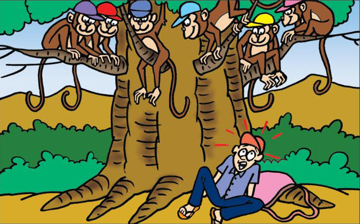 Capseller and the monkey - Katha Kids