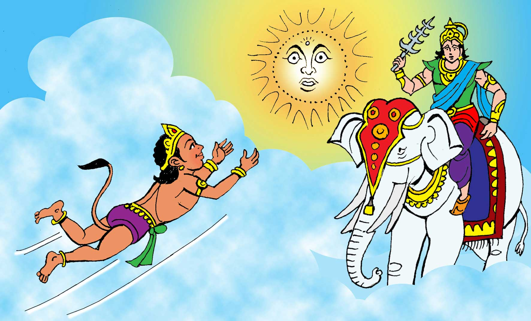 When Hanuman Wanted The Sun Katha Kids