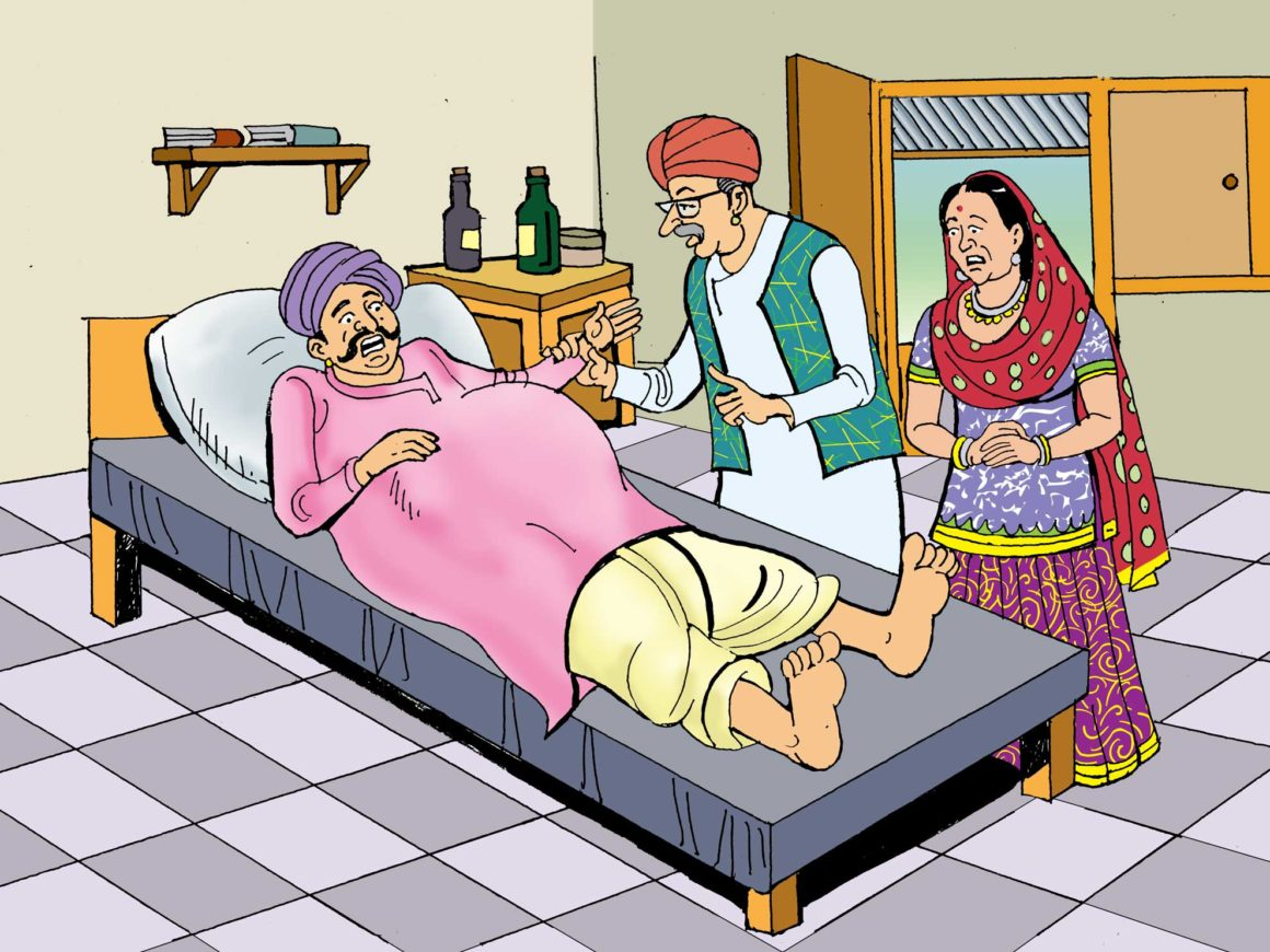 Baluram being checked by the doctor